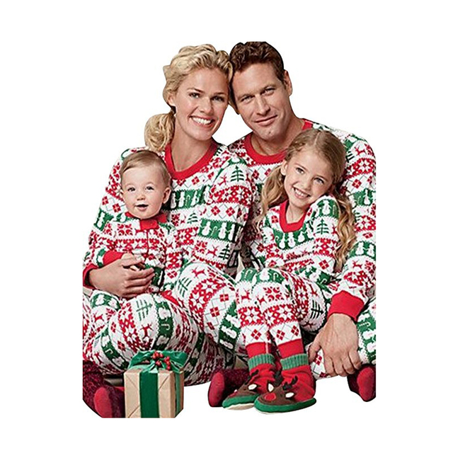 e20d57c91703 Matching Family Christmas Pajamas Baby Kids Boys Adult Tree Pajama ...