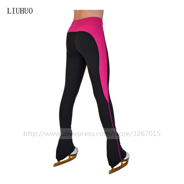 9d9b11cd31 Figure Skating Pants Women's Girls' Ice Skating Tights Bottoms High  Elasticity Practise Polychromatic optional White purple