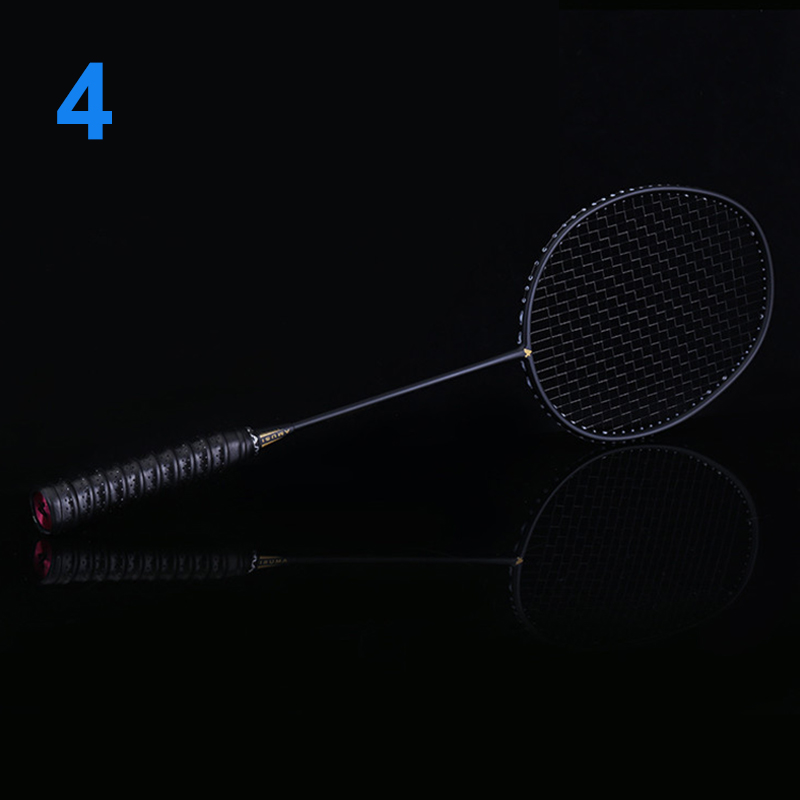 Hot Ultralight 6U Badminton Racket Professional Carbon Portable Free Grips Sports MCK99