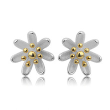 Fashion 925 Sterling Silver Stud Earrings Small Daisy Flowers For Women Sterling-silver-jewelry Valentine Day Gifts