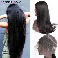 360 парики на кружевном фронте предварительно сорванные с волосами младенца прямые человеческие волосы парики для женщин перуанские Remy воло
