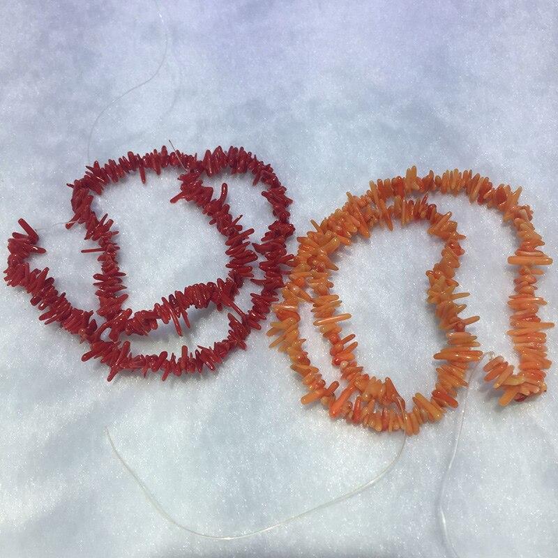 Edler Schmuck RüCksichtsvoll Jyx Schöne Lange Korallen Handgemachte Material 4-10mm Meer Bambus Korallen String Lose Perlen Schmuck Geschenk 16 Diy Material 2 Strings Bequemes GefüHl Perlen