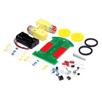 New Arrival 1 Set Tracking Robot Car Electronic DIY Kit With Reduction Motor
