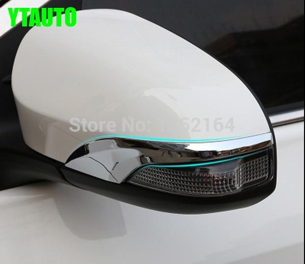 Автомобільне оздоблення дзеркала заднього виду, наклейка на бічне дзеркало для toyota corolla 2014-2018, ABS хром, 2шт / лот, автомобільні аксесуари
