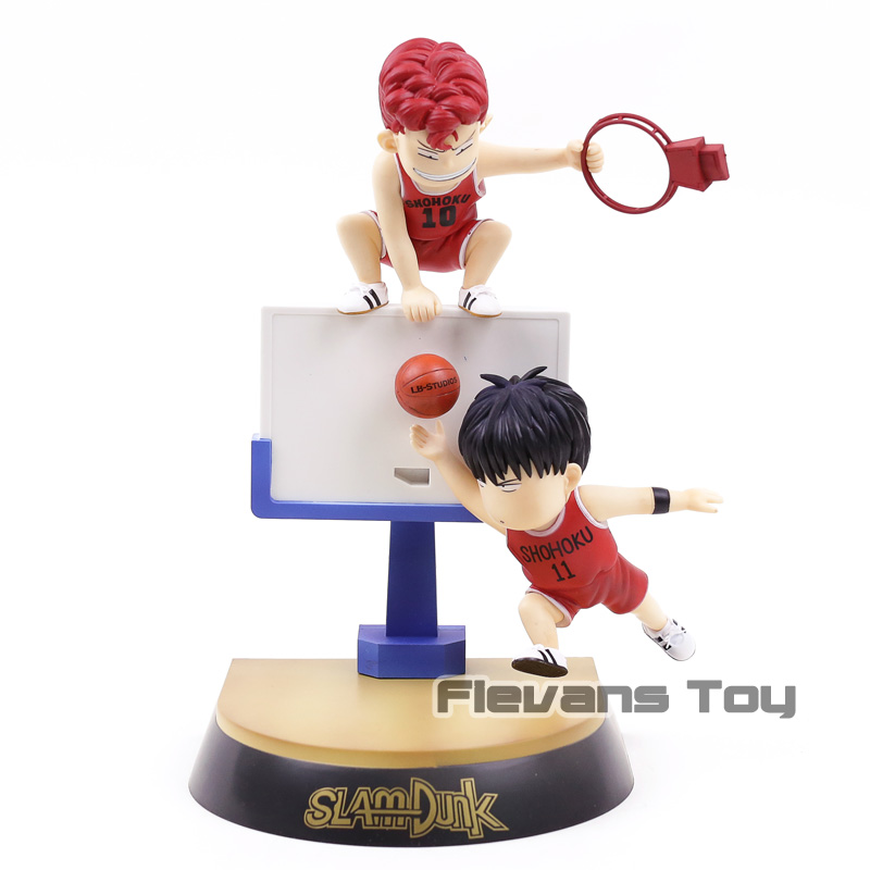 SLAM DUNK Rukawa Kaede & Hanamichi Sakuragi Red Basketball Uniform PVC Figure Collectible Model ToySLAM DUNK Rukawa Kaede & Hanamichi Sakuragi Red Basketball Uniform PVC Figure Collectible Model Toy