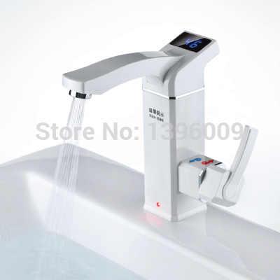 3000 ワット液晶電気蛇口電気温水器電気温水タップインテリジェントデジタルキッチンインスタント温水