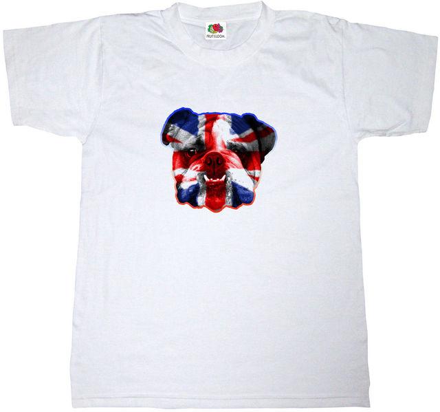 e0b2d8d09 BRITISH BULLDOG T-SHIRT 100% COTTON UNION JACK BRITAIN ENGLAND ENGLISH T  SHIRT Funny Clothing Casual Short Sleeve Tshirts