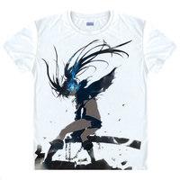 Negro Rock Shooter The Game T-Shirt Camisa de Fuerza del Hombre del verano camisetas anime anime cosplay vestido de camisa masculina y femenina regalo un