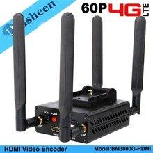 جهاز ترميز فيديو HDMI 4G LTE H.264 منخفض المدى بث مباشر جهاز إرسال مشفر Ip لاسلكي wowza youtube facebook