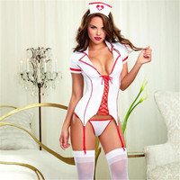 Sex Nurse Lingerie Set Costume Women Sexy Party Night Time Cosplay Clothing Set Intimates Sex Products Nurse Costumes