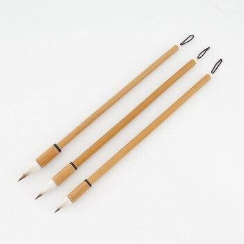 3 Parça çin Geleneksel Sanat Hat Kalem Fırça Karışık Saç Yazma