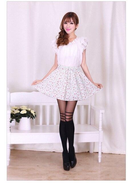 High Quality Fashion Nylon Stockings Women Striped Tights Patchwork Black Pantyhose -7488