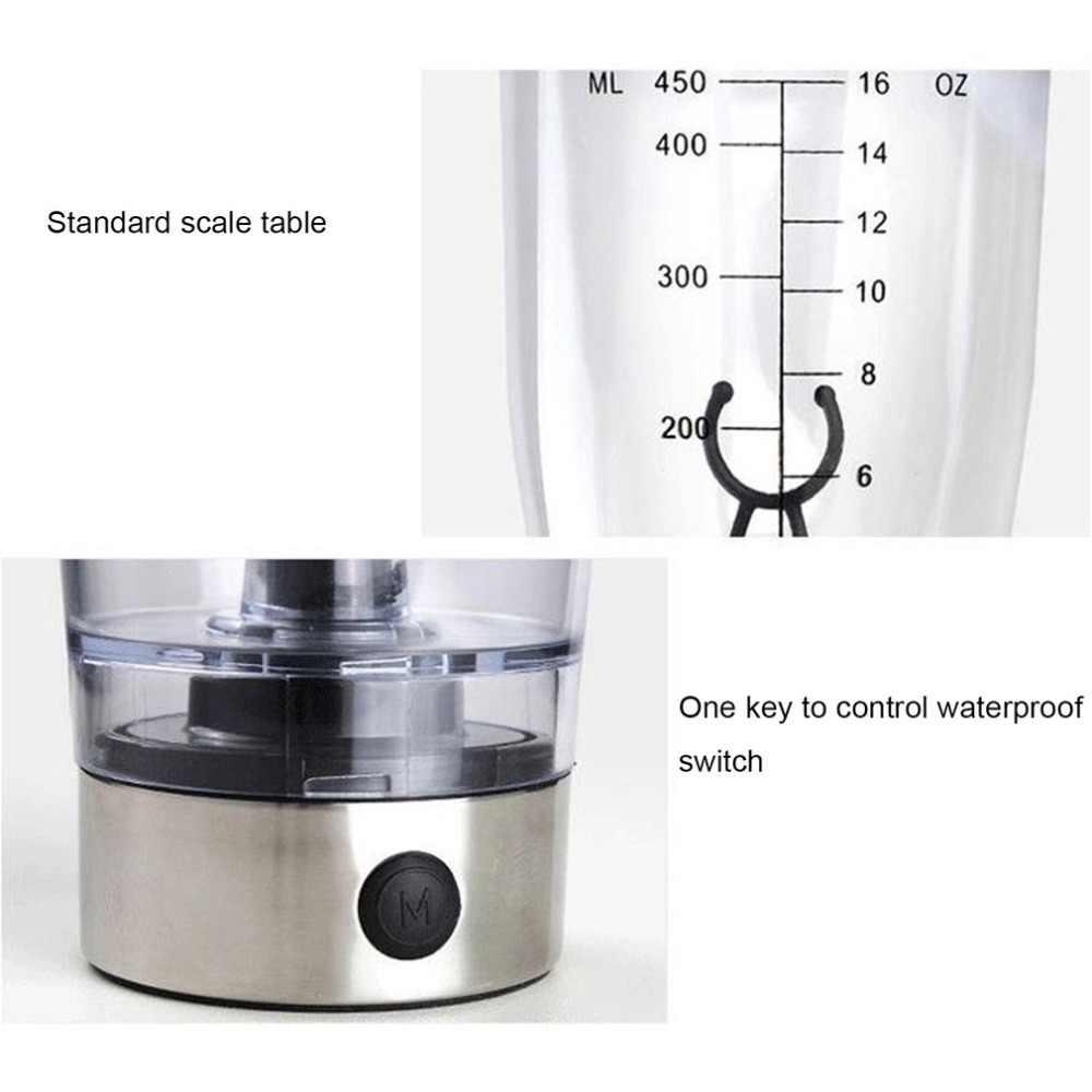 450 ml Alimentado Por Bateria Portátil Automático Agitação Liquidificador Milk Shake Copo Auto Agitação Elétrica Xícara de Café Garrafa de Água Inteligente