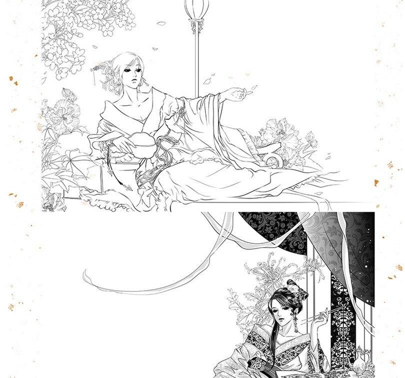 desenho animado de figura antiga pintura a