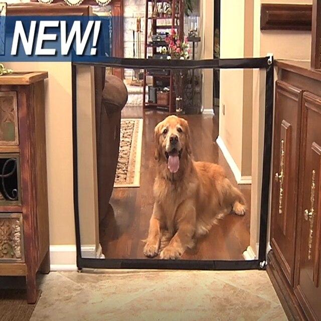 2 גדלים מכירה לוהטת חדש קסם-שער כלב מחמד גדרות נייד מתקפל בטוח משמר הגנת בטיחות קסם שער לכלבים חתול מחמד