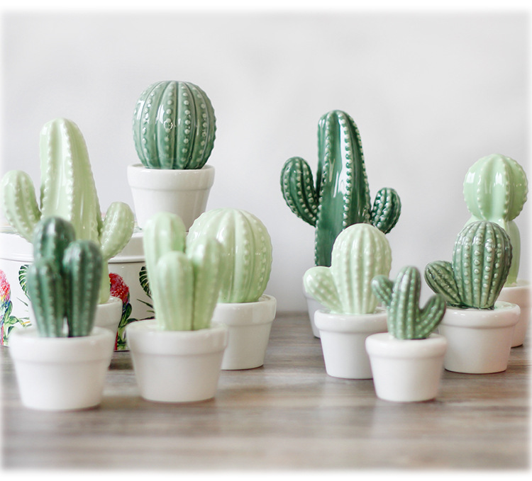 lm923 home ceramic cactus bud vase succulent table decoration modern wedding centerpiece event. Black Bedroom Furniture Sets. Home Design Ideas