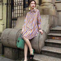 Cheerart Bow Neck Mesh Dress Women Summer Quilting Purple Long Lantern Sleeve Loose A Link Mini Korean Style Dress