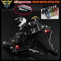 7/8 22mm Motorcycle Black CNC Brake Levers Master Cylinder Reservoir Clutch For YAMAHA YZF R125 125 300CC
