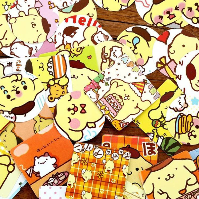 46pcs box pudding dog boxes of stickers decorative stickers Presents Diary Scrapbook sticker child diy toy Free shipping in Stationery Stickers from Office School Supplies