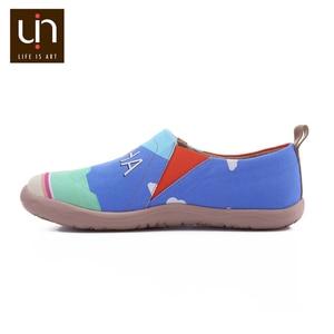 Image 4 - UIN Sandy Strand Design Gemalt Männer Casual Schuhe Atmungsaktiv Slip on Sneakers Trendy Reise Wohnungen Männlichen Faulenzer