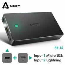 Original AUKEY Power Bank 20000mAh dual USB port with LED Light Powerbank For Xiaomi mi5 Redmi 4 pro Samsung iPhone7 6 6s  PB-T5