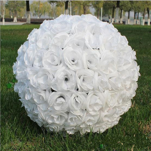 16 40 cm artificial encryption rose silk flower kissing balls 16 40 cm artificial encryption rose silk flower kissing balls hanging ball for wedding party mightylinksfo Choice Image