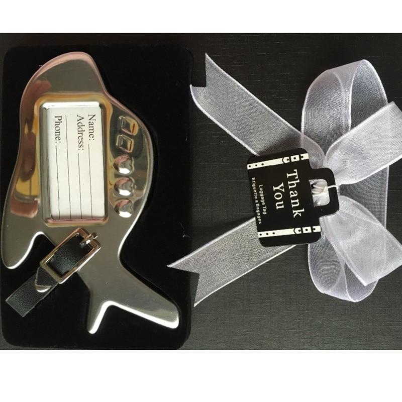 Doprava zdarma 20ks / lot svatební dar Letadlo Luggage Tag v dárkové krabičce