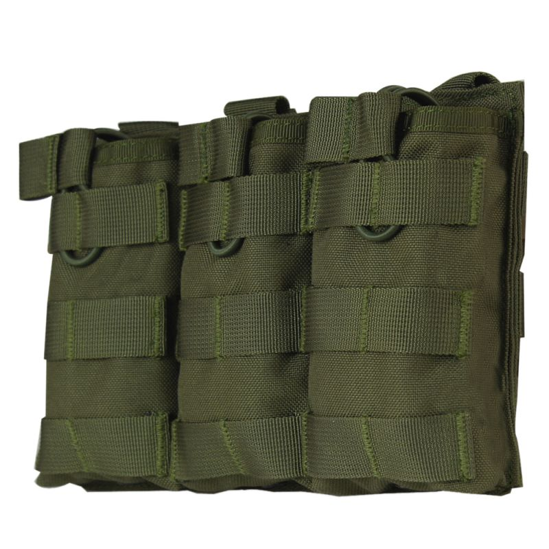 MOLLE Open-Top Triple Magazine Pouch FAST AK AR M4 FAMAS Mag Pouch Airsoft Military Paintball Equipment Outdoor image