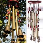Antique Amazing Resonant Relaxing 4 Tubes Chapel Bells Wind Chimes Decor
