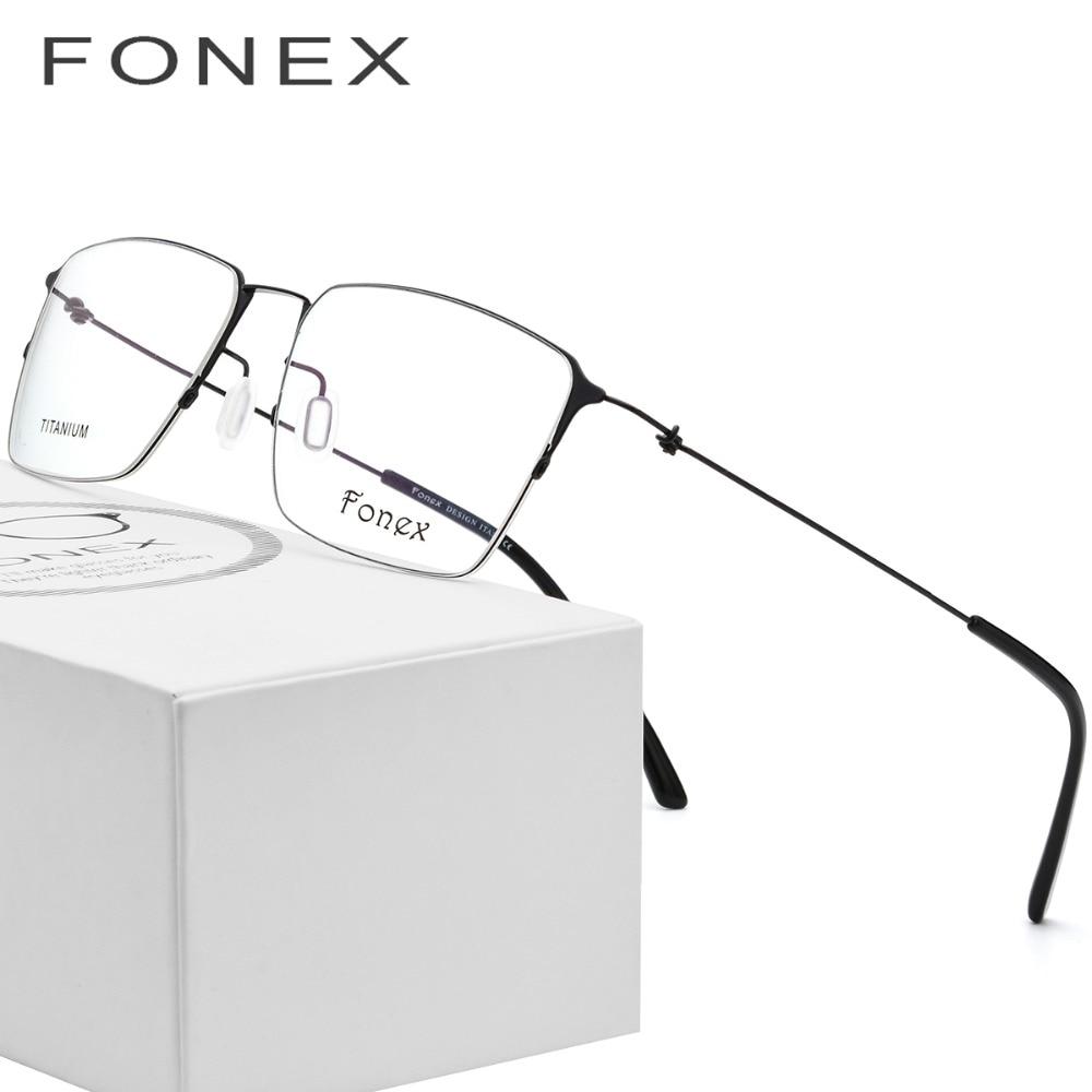 eae4fb9aa6 Titanium Glasses Frame Men Semi Rimless Prescription Eyeglasses Women  Myopia Optical Frames Ultralight Korean Screwless Eyewear-in Eyewear Frames  from ...