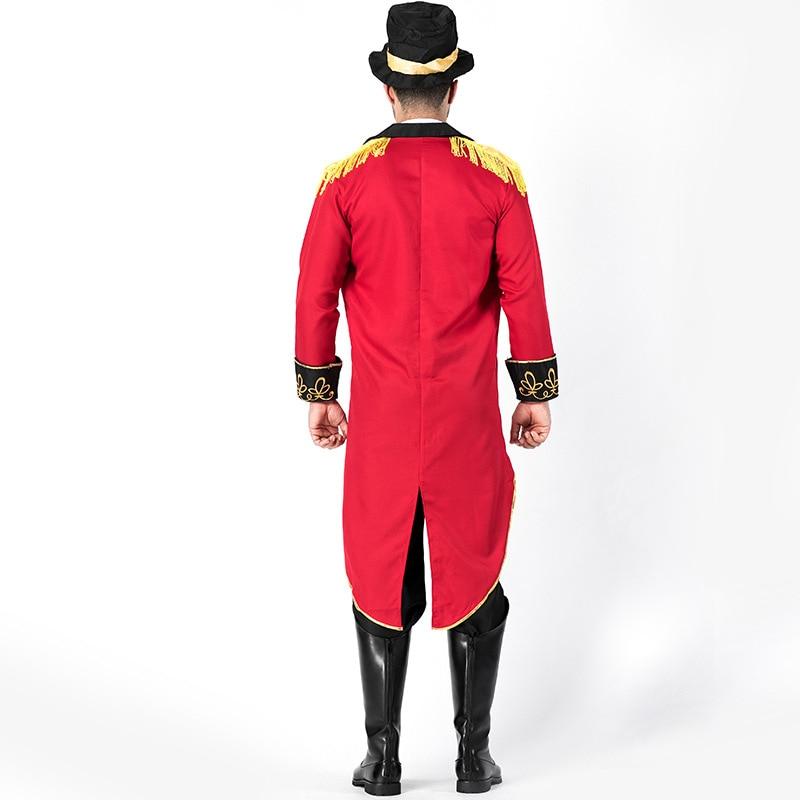 Man Deluxe Ringmaster Costume Magician Party Circus Lion Tamer Tuxedo Fantasia Fancy Dress