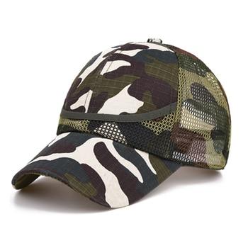Outdoor Camouflage Boy's Mesh Baseball Cap 4