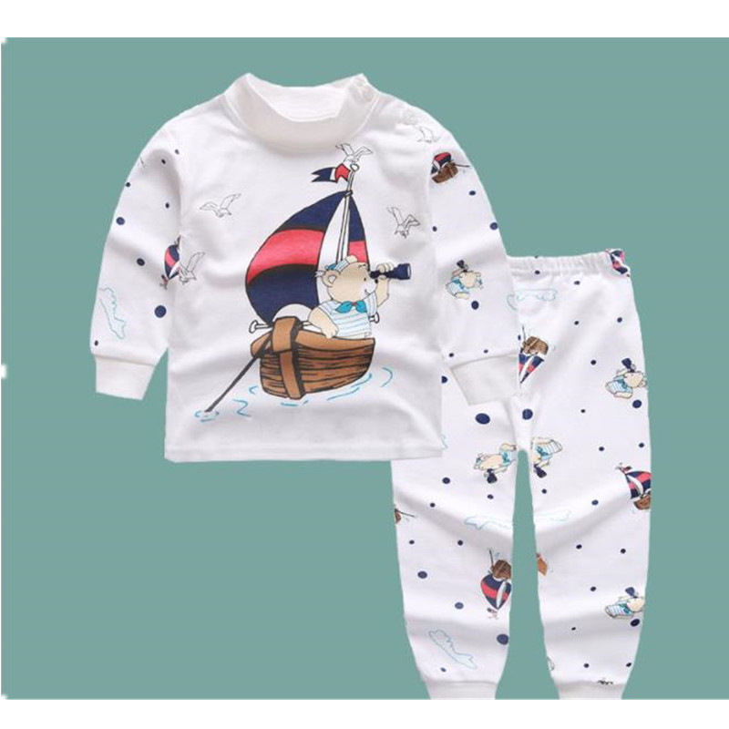 Newborn Baby Clothes Cotton Long Sleeve Infant Clothing Top+Pant 2PCS Cartoon Baby Boys Girls Clothing Unisex Dropshipping E0071