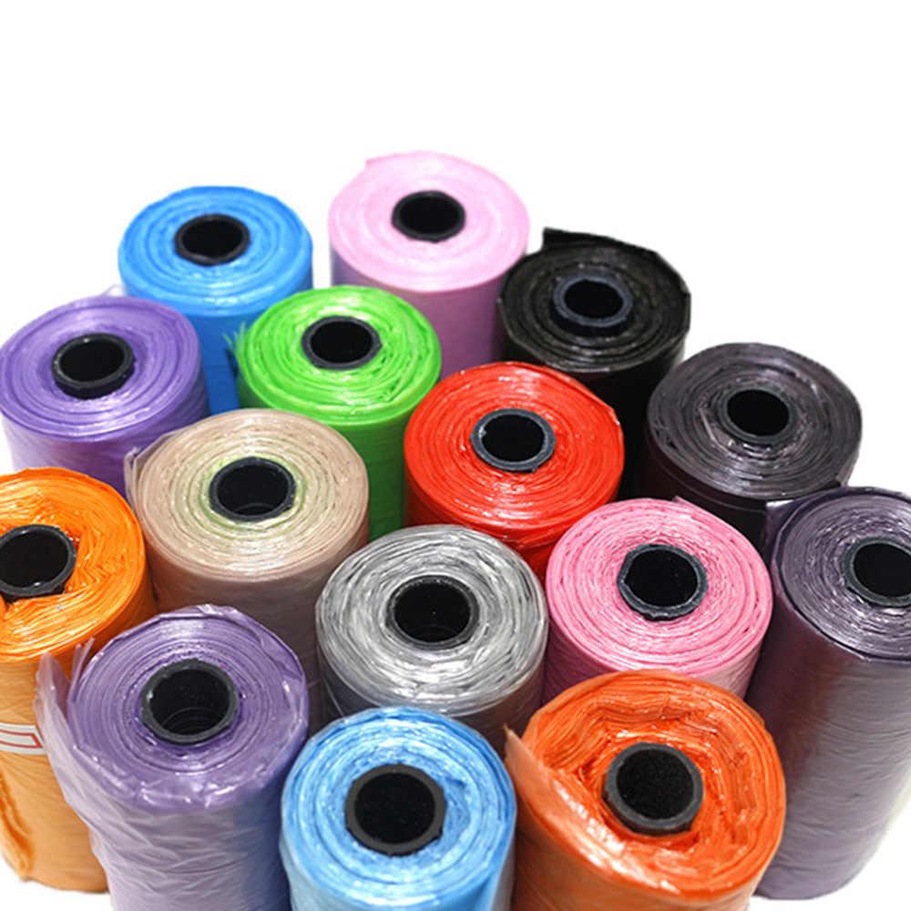 1 рулон 15 шт собака кошка мешок какашки Разлагаемый мешок для сбора мусора от домашних животных подходит для всех домашних животных открытый домашний мешок для чистки случайный цвет