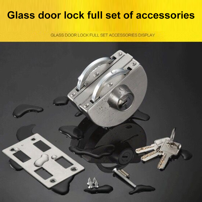 Newest Stainless Steel 10-12mm Glass Door Security Lock Double Swing Hinged Push Gate LockNewest Stainless Steel 10-12mm Glass Door Security Lock Double Swing Hinged Push Gate Lock