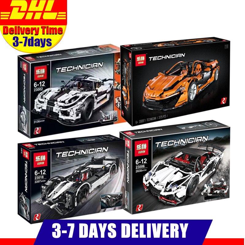 LEPIN Technique 20087 23018 23006 23002 Sport Course modèle voiture Kits de Construction Blocs Briques Jouet Compatible Legoings MOC-16915