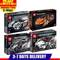 LEPIN Technic 20087 23018 23006 23002 Sports Race Car Model Building Kits Blocks Bricks Toy Compatible Legoings MOC 16915