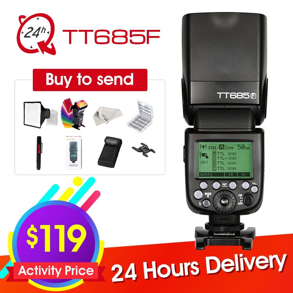 Godox Скорость lite TT685F для Fujifilm Камера Flash ttl HSS GN60 высокое Скорость 1/8000 s 2,4 г для Fuji X Pro2/1 X T20 X T2 X T1
