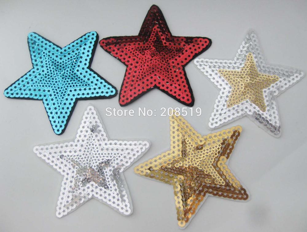 ⑧AE0076 moda estrella parches para Ropa Decoración 20 piezas 85mm ...