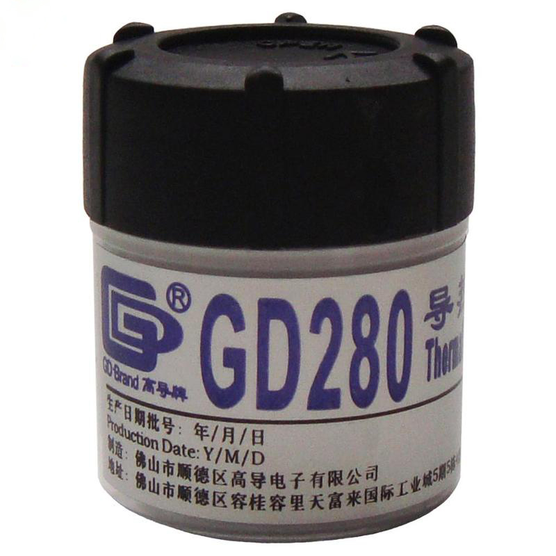 GD280 White Weight 30 Gram Thermal Grease Silicone High Performance For Heat Sink For CPU GPU Cooler Bottle Packing CN30