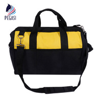 PEGASI 12 Toolkit Multifunction Maintenance And Electrician Single Shoulder Large Capacity Thicken Oxford Cloth Tool Bag