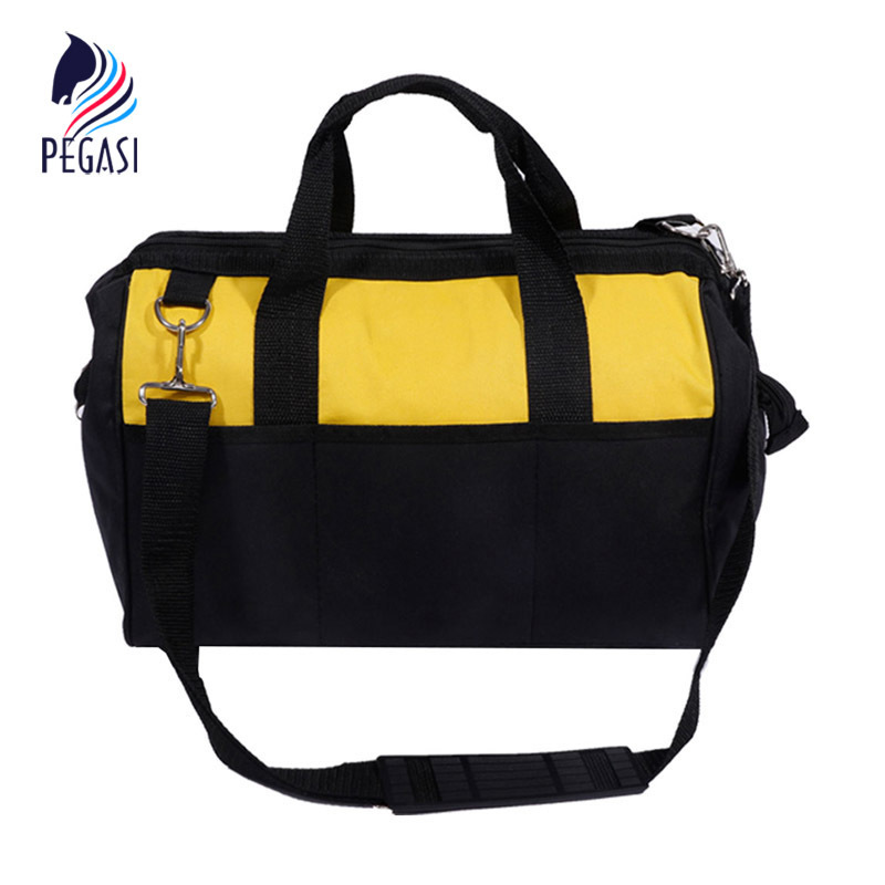 PEGASI 12 Toolkit Multifunction Maintenance and Electrician Single Shoulder Large Capacity Thicken Oxford Cloth Tool Bag multi funtional tool bag waterproof hardware tool bags large double layer capacity oxford cloth electrician toolkit handbags