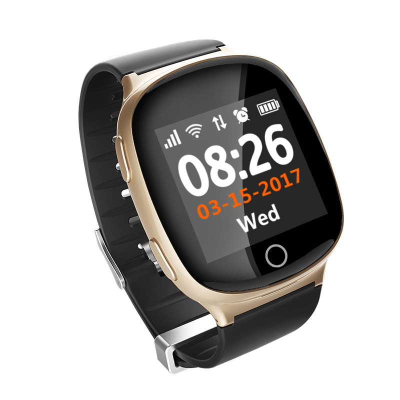 GPS Watch Locator for Elderly GPS LBS WIFI Positioning Anti lost Tracker Heart Rate Monitor Medicine