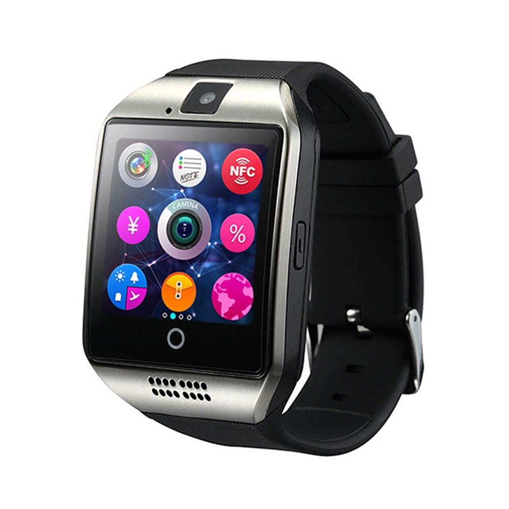 Q18 Smart Uhr mit Touchscreen Unterstützung TF Sim Karte Kamera für Android Telefon Bluetooth Smartwatch