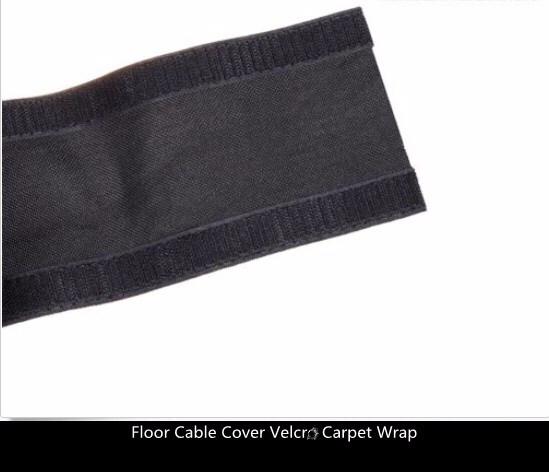 100mm Wide Strong Floor Cable Cover hook and loop Carpet Cable Wrap in Wiring Harness from Home Improvement
