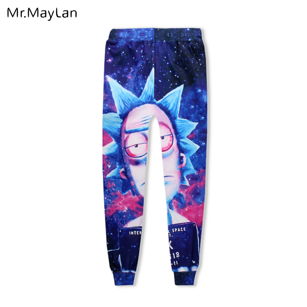 3D Print Rick and Morty Streetwear Hoodies Women/men Hip Hop Pullovers Pocket Sweatshirts Long Pants Tracksuits Boy Blue Clothes
