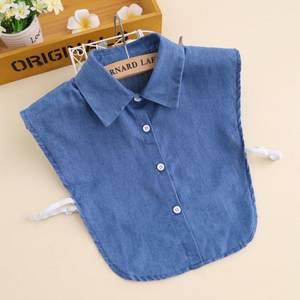 jean detachable collar adult shirt sweater collars all matching blue denim fabric fake collar unisex