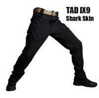 TAD New IX9 Shark Skin Soft Shell Military Pants Men Waterproof Heat Reflection Outdoors Trousers Tactical