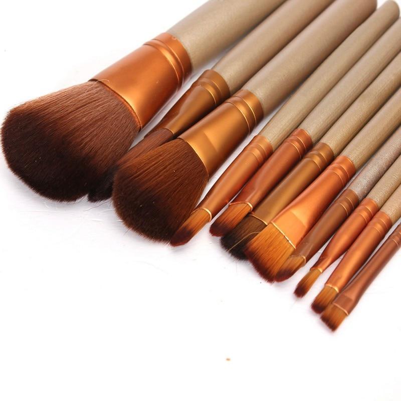 12Pcs Naked Makeup Brushes Cosmetics Tools Face Eyeshadow Eyeliner Lip Brush Set Tool Rose Gold 8