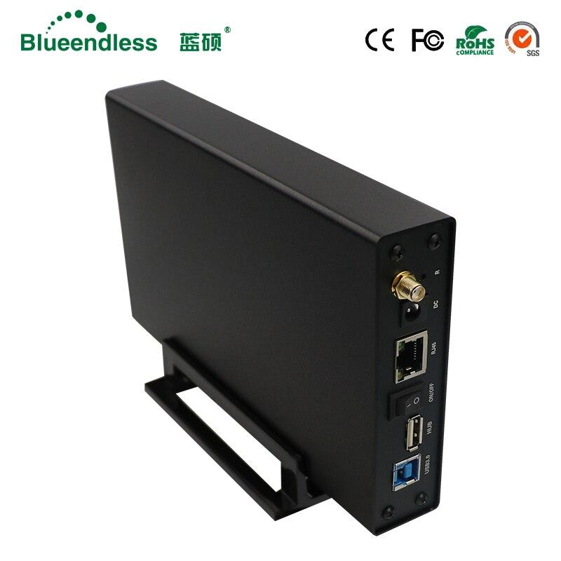 De aluminio nuevo caso HDD con Wifi inalámbrico función HDD 2,5 de 3,5 pulgadas caddy externo duro caso envío gratuito bluedendless